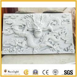 Scultura di marmo bianca di pietra naturale di Relievo per la decorazione di arte della parete