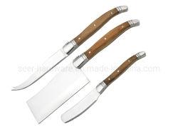 [3-بيس] خشبيّة مقبض جبن أدوات سكينة يثبت ([س-ك902])