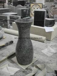 Pierre de granit naturel Vase de fleurs de cimetière