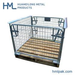 ヨーロッパのFoldable金属のスタック可能倉庫の金網の記憶のケージパレット