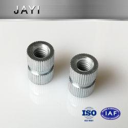 (JY211) صامولة إدخال فولاذية، صامولة إدراج فتحة عمياء، صامولة إمالة ذاتية، صامولة إدخال للحقن