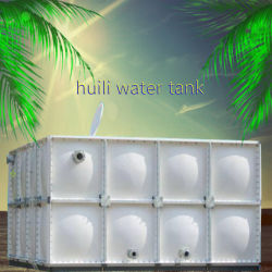 خزان تخزين المياه سعة 10000 جالون من تخطيط متطلبات الموارد العامة (RP) SMC المخصص للمياه المثبتة بمسامير الخزان المستطيل الساخن الضغط المتشكيل شهادة Wras لخزان المياه المقطعية