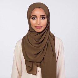 Polyester foulard musulman Caps Hijab intérieur rayé arabe islamique la European American plein de couvrir l'Écharpe chapeaux carré instantanée Hijab