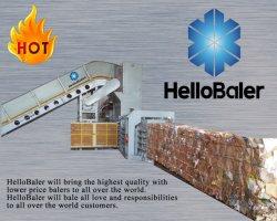 Presse à balles automatique horizontal pour l'OCC les déchets de papier avec système de convoyeur