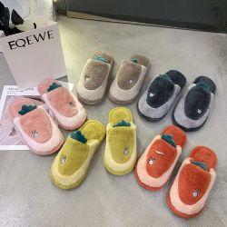 Las niñas 2020 Pelo al por mayor de las diapositivas de las mujeres señoras sandalias Niño Casual piel exterior zapatillas sandalias de interiores cálido