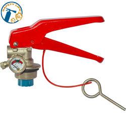 Válvula de latão para 6kg DCP Extintor de Incêndio o medidor de pressão de admissão de ar