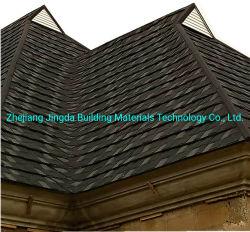 鋼鉄屋根ふきシートの石の上塗を施してある金属の鉄片屋根瓦の家の屋根ふき材料の石の上塗を施してある屋根のパネル