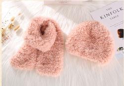 연약한 가짜 모피 스카프 모자 양탄자 담요 방석을%s 푹신한 공상 털실 100%년 폴리에스테 뜨개질을 하는 털실 크로셰 뜨개질