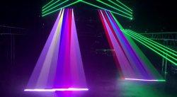 6 Глаза RGB 3 в 1 полноцветный самоходные Режим лазерного Moivng передних фар