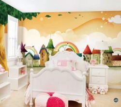 Garçon/fille/Kids, vivant /lit /cuisine/salle de corridor pour les enfants, le papier peint en PVC/murale/papier peint