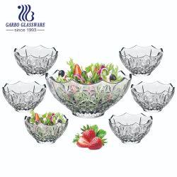7PCS-Установить стекло фруктовый салат чашу с красочным фейерверком дизайн (TZ7-GB16019QX)