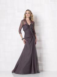 Großhandelsmutter des Braut-Kleides mit der Umhüllung, die langes Hochzeits-Abend-Mutterkleid bördelt