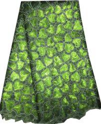 La mujer nuevo diseño de la tela de encaje de Organza Cl8155-3