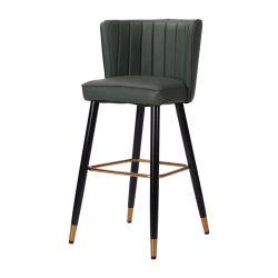 Hotel-Möbel-China-Fertigung-modernes Textilverpackung-Metallbein-moderner Stab-Schemel-Stuhl