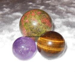 Semi-Pierres précieuses en cristal Sphère Boule Ornement Artisanat Cadeau
