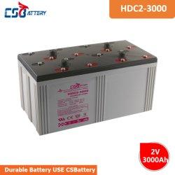 بطارية الكربون الرصاص Csbattery 2V3000ah Batteria CE/UL/IEC لبطارية الكربون الرئيسية لمصرف الطاقة/نظام الطاقة/تخزين الطاقة/Ada