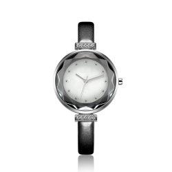Geschenk-Frauen-Form-Leder-Schmucksache-Legierungs-Uhr (K-1878)