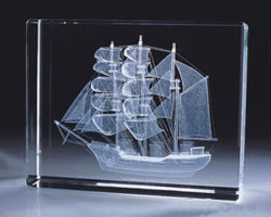 Gravação a laser 3D Blocos de cristal para Brindes Promocionais