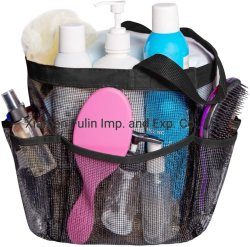 卸し売り方法再使用可能で黒い網の世帯の浴室のオルガナイザー