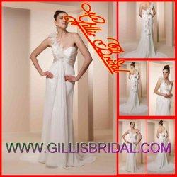 2012 جديد غلاف [أن-شوولدر] [شفّون] محكمة قافلة تموين عرس ثياب /Bridal عباءة ثوب ([جلّيس3049])