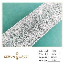 Tecido de malha com atacadores em malha nylon spandex de 21 cm com venda por grosso