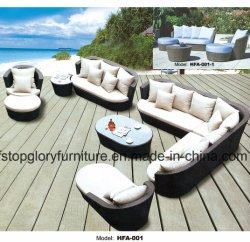 El bastidor de hierro PE Ratán Sofá Muebles de jardín al aire libre