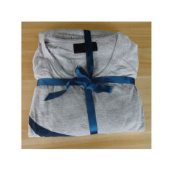 夜スーツの綿のパジャマ上の綿メンズパジャマの綿