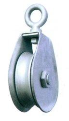 Bloc d'acier inoxydable 304/316 Poulie double poulie à l'Oeil de pivotement