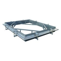 La plaza rectangular de acero inoxidable las juntas de expansión