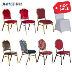 Banheira de vender tecido empilháveis e sala de jantar de metal de ferro Hotel Luxury Hotel Mobiliário Cadeira Banquetes