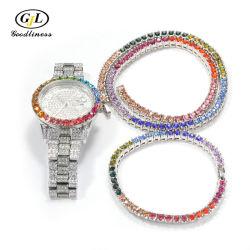 Horloge van de Halsband van de Armband van de Steen van de Juwelen van Hip Hop het Grote voor Mensen