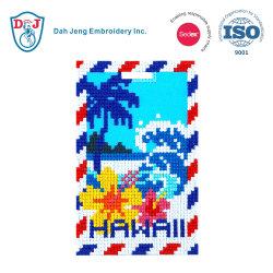 Cosido en el mosaico de Etiqueta de Equipaje/ ID Card Holder-Hawaii