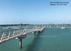 Marinealuminiumlegierung-Anpassungs-Strichleiter, Marinekai-Strichleiter, justierbare Passage