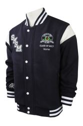 OEM Custom Mens Varsity Jacket de baseball de satin