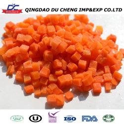 Precio al por mayor calidad de exportadores experimentados verduras IQF congelado trocitos de zanahoria/cortes/tiras