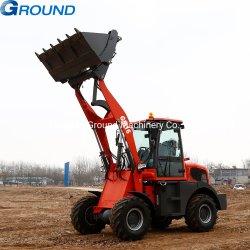 Hoge efficiënte 0.8m³ emmer, 1.6ton miniwiellader, kleine lader, backhoe lader, vooreindlader, tractorlader, schoplader met CE&EPA