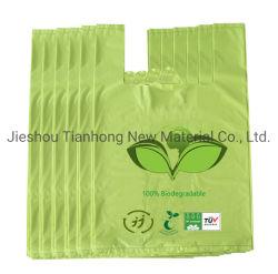 PLA 100% 생물 분해성 부대 Compostable 쓰레기 봉지 옥수수 녹말 플라스틱 졸작은 생물 분해성 개 고물 부대를 자루에 넣는다