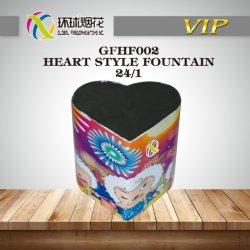 Gfhf002-coeur de la fontaine de style forme de coeur de la fumée de plein air le bonheur des Fontaines Fireworks