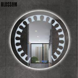 5mm円形LEDのスマートな照らされたバックライトを当てられた壁の浴室ミラーセット