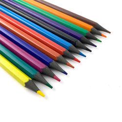 Оптовая торговля 12 цветов переработка пластиковой цветной Рисунок карандашом метку в поле бумаги