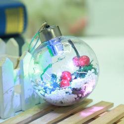 شفّافة عيد ميلاد المسيح كرة مهرجان إحتفال زخرفة [لد] عيد ميلاد المسيح كرة