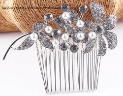 Mode Femmes's Hair Accessoies Crystal Cheveux décoration verre Rhinestone Crystal Pearl Peigne à cheveux ornements de cheveux