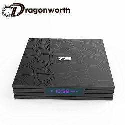 Android T9 RK3328 TV Box Boîte noire HD TV Full HD 1080p en vidéo numérique par câble TV Set Top Box avec WiFi Android TV Box avec carte SIM