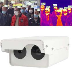 赤外線温度の測定IRの熱探知カメラの無接触スクリーニングのリアルタイムのオンラインアラーム容易な使用を用いる人間の額の臨時雇用者ネットワークIPのサーモグラフィー