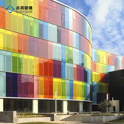Économies d'énergie coloré mur rideau en verre d'impression numérique