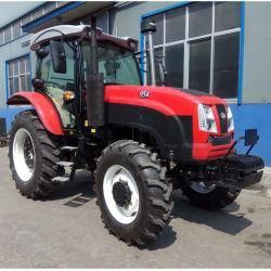 Huabo Landwirtschafts-preiswertes hohes Abstand-Bauernhof-Traktor 95 HP 4 Wd für Verkauf