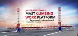 Einzelner Mast-Bergsteiger-Zwilling-Mast-kletternder Arbeitsbühne-Funktions-Aufzug für Gebäude