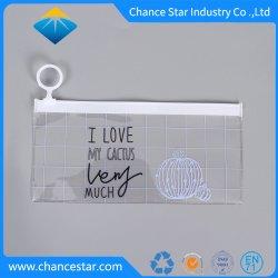 Impression personnalisée plastique PVC étanche sacs Ziplock avec extracteur de bague
