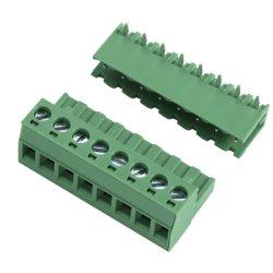 Plug in de bloques de terminales macho conector PCB 5.0/5.08mm
