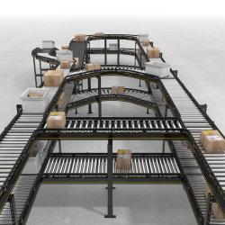 저비용 전력 산업용 언로딩 트랜스퍼 라인 벨트 롤러 컨베이어